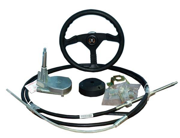 установка тросов дистанционного управления лодочным мотором